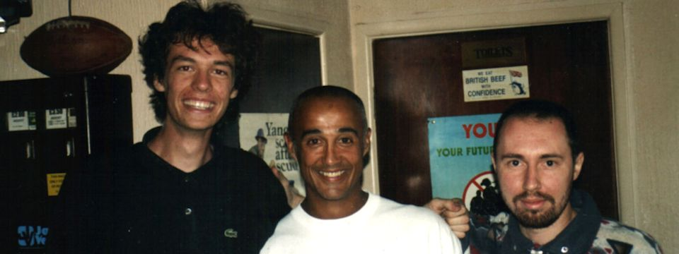 Me, my friend and Andrew Ridgeley in Cornwall